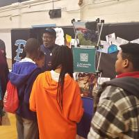 Maurice Ampley and Jeffrey Clemmons at the C.M. Eppes Middle School Career Fair