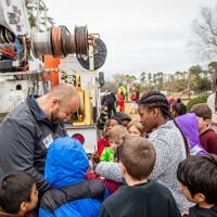 Kevin Lockamy at Elmhurst Elementary School's Careers on Wheels