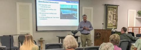 John Worrell presenting to the Sierra Club